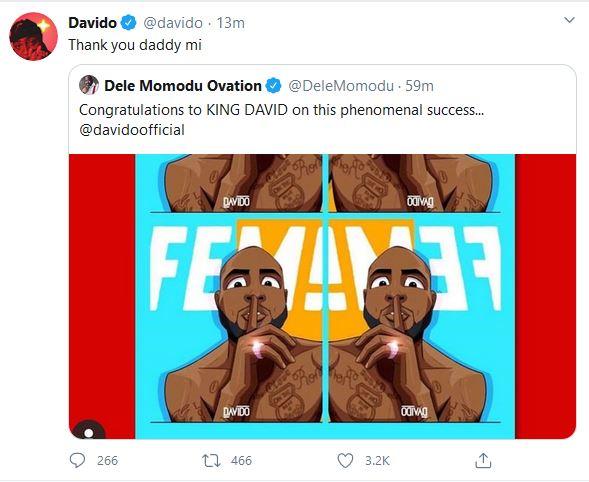 Davido Fem gets celebrated by Dele Momodu